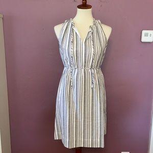 Loft Stripe Tie Waist Dress